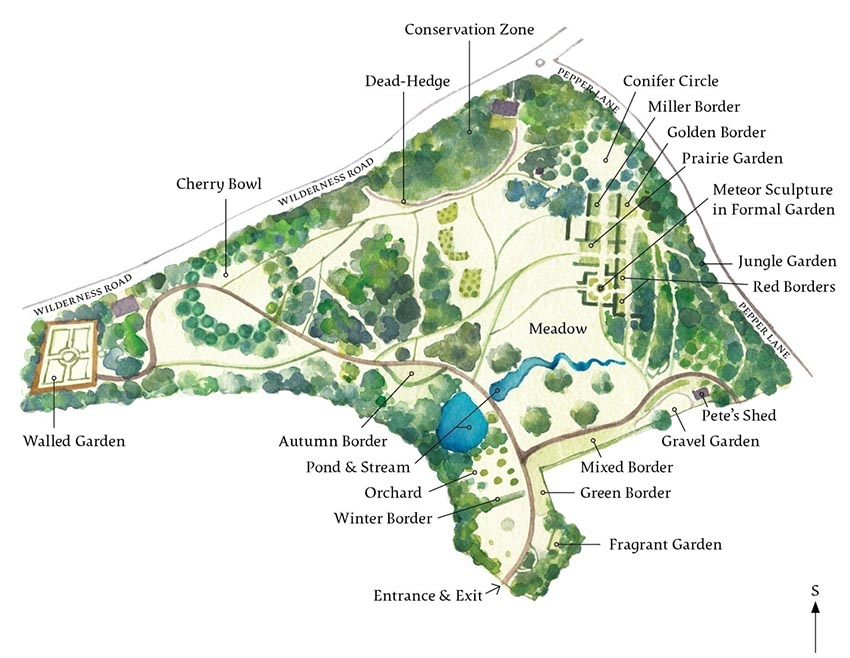 Plan of the Harris Garden